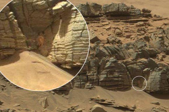 Marsta örümcek veya yengeçe benzer bir şekil