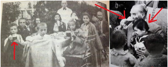 Atatürk Orman Çiftliğinde Şark malt hülasası içen çocuklar