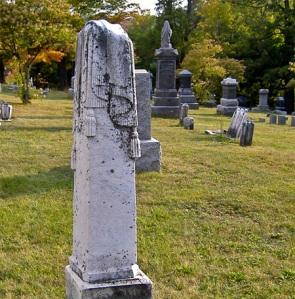 Bülbülderesi Mezarlığındaki Benzer Sembolün Aynısı Örtülü Sütun Beth Abraham Yahudi Mezarlığı Brooklyn- Newyork