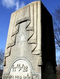 Bülbülderesi Mezarlığındaki Benzer Sembolün Aynısı Yahudi Mezarlığı Örtülü Sütun, Beth Yakov Mezarlığı Brooklyn- Newyork