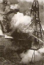 Osmanlı topçu ateşi altındaki petrol kuyuları