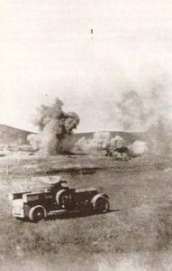 İngiliz ordusunun arabası çatışma sahasında