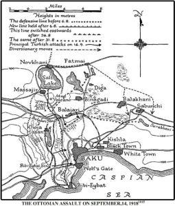 Türk ordusunun Bakü'ye saldırı planı