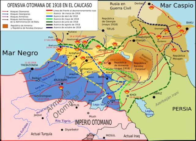 Kafkasya'da 1918 Osmanlı ileri harekatı