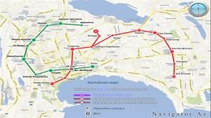 Bakü metro haritası