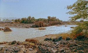 Medine yakınlarında yıkık bir Hicaz Demiryolu Köprüsü