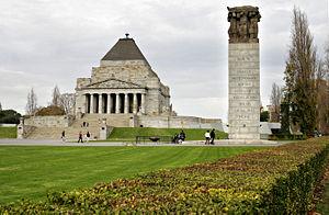 Melbourne Avustralya Anzak Anıtı
