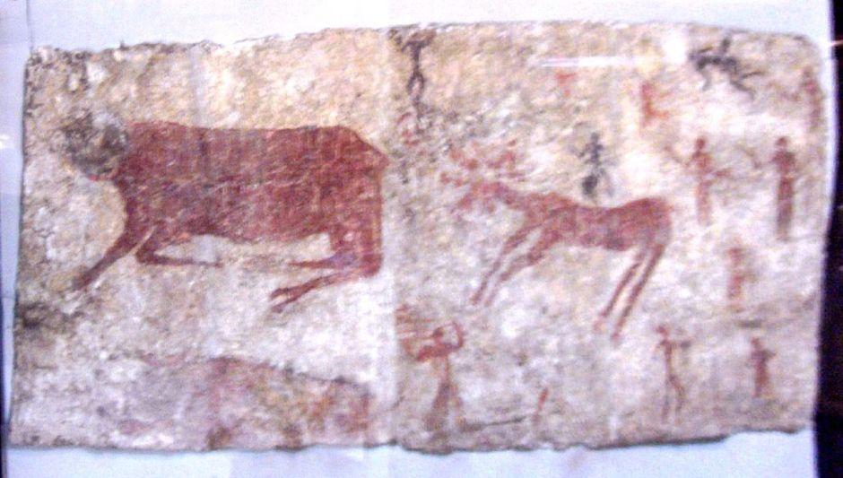 Çatalhöyük duvar resimlerinden bir örnek