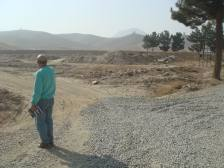 önerilen şantiye sahasının batısındaki yol