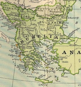 1800 yılında Osmanlı İmparatorluğu'nun batı sınırları