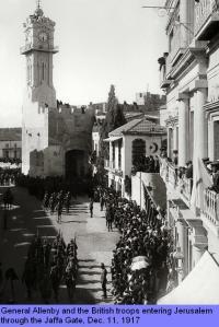 İngilizlerin Yafa kapısından Kudüs'e girişi