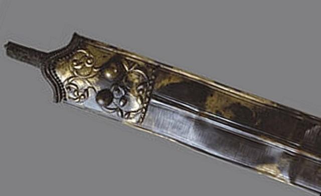 Oxfordshire'da bir nehirde bulunan Wittenham Kılıcı, Geç Demir Çağı. Görsel: Ashmolean Müzesi, Oxford Üniversitesi