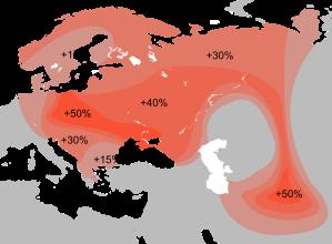 R1a'nın dağılımı