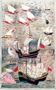 16. yüzyılda Hint Okyanusu'nda Osmanlı filosu.